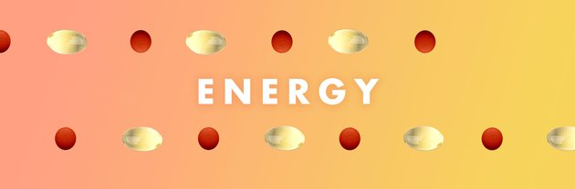 Vitamins for energy on an orange background