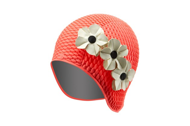 Floral bubbles swim cap by Sporti
