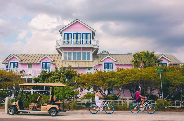 couple biking in Seaside, Florida