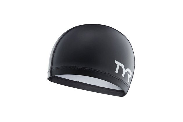 Silicone comfort adult swim cap by TYR