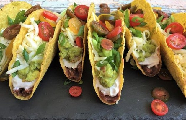 Mexican Layer Dip Tacos