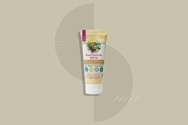 Badger Sunscreen Cream SPF 30 Unscented