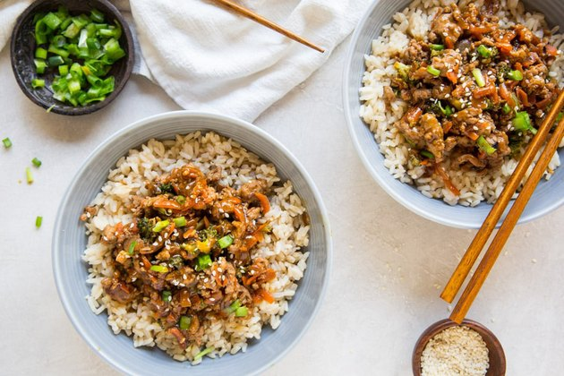 Ground Turkey Teriyaki Rice Bowl ground turkey recipes