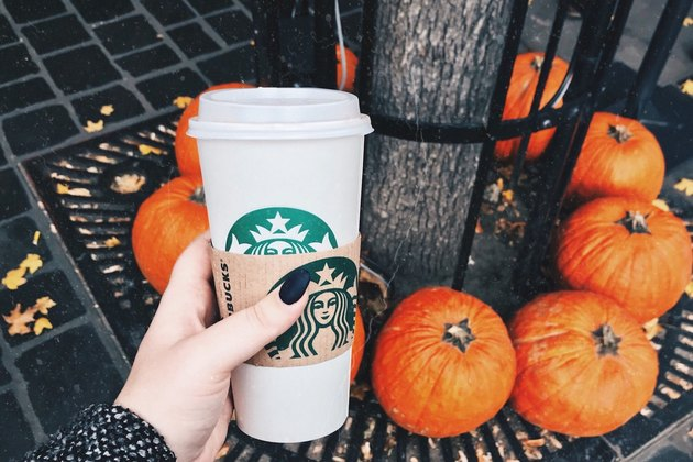 pumpkin spice latte from starbucks