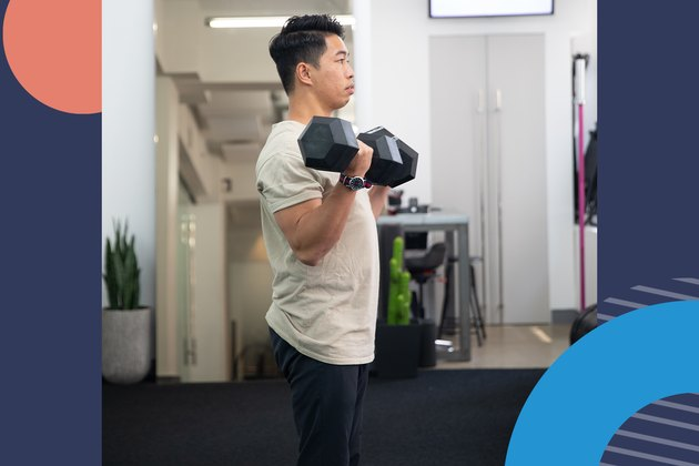 1. Standing Dumbbell Curl