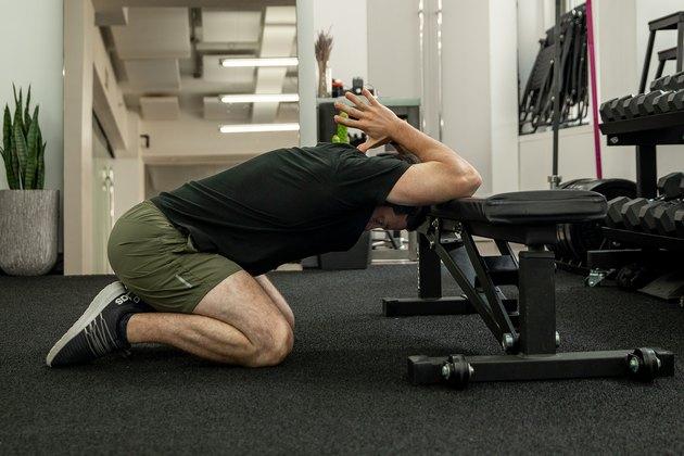 Move 6: Bench Prayer Stretch