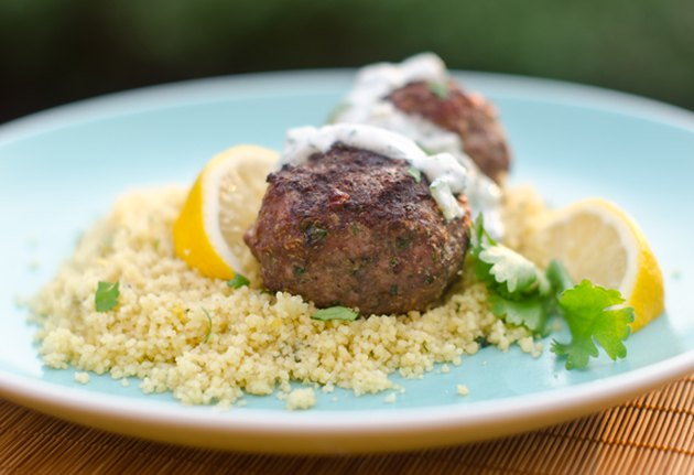 Grilled Moroccan Meatballs with Yogurt Sauce Greek yogurt dinner recipes