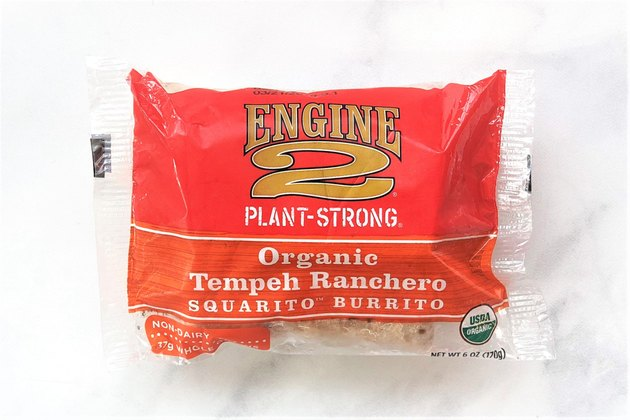 Engine 2 Plant-Strong Organic Tempeh Ranchero Squarito™ Burrito is a frozen vegan burrito with its main protein source coming from organic tempeh.