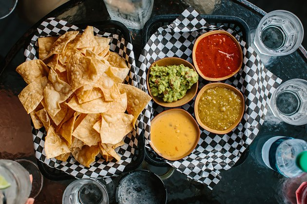 Chips, salsas and guacamole