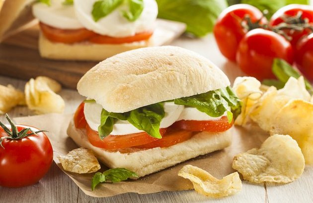 Ciabatta caprese no cook meals