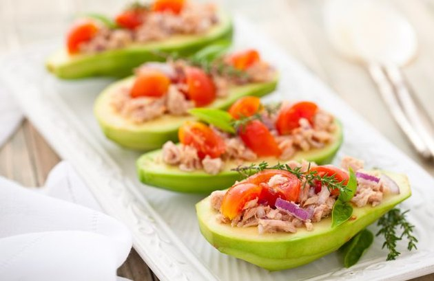 Stuffed Avocado no cook meals