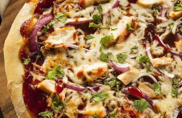 barbecue chicken pita pizzas chicken recipe