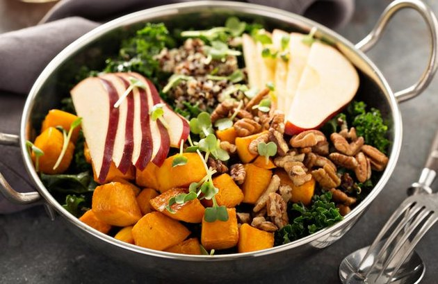 Fall Kale Apple Walnut Salad