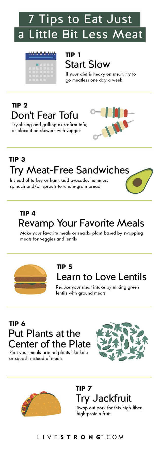 tips to eat less meat graphic