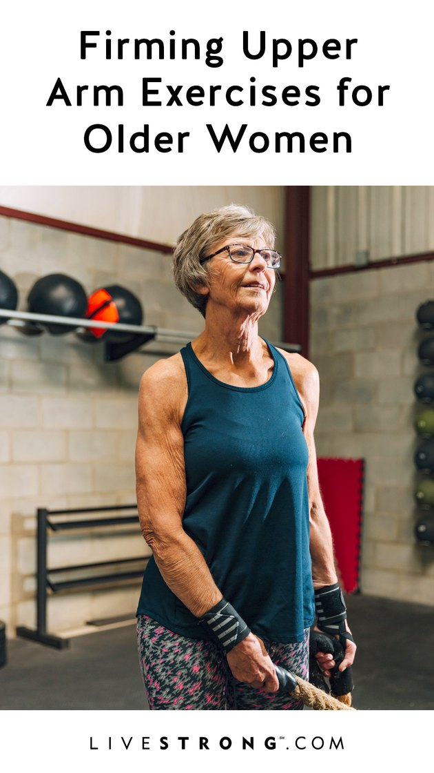 Firming upper arm exercises for older adults graphic