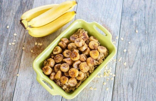 Baked Banana Bread Oatmeal banana recipe.