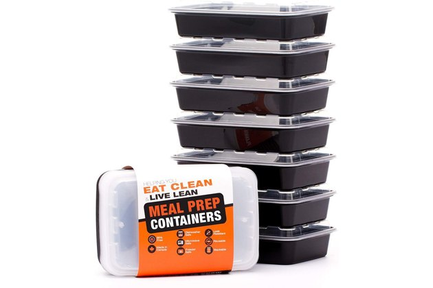 Eat clean plastic meal prep containers