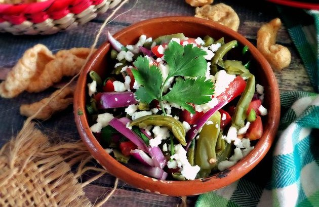 Mexican-inspired nopales salad recipe for keto diet