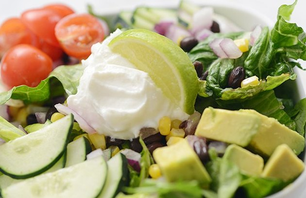 Taco Salad with Brown Rice leftover rice dinner recipes