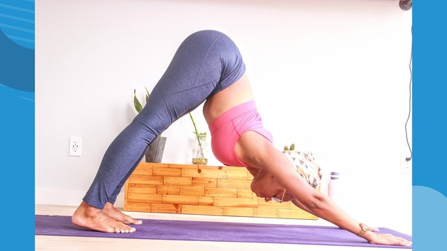 Move 2: Downward Facing Dog (Adho Mukha Svanasana)