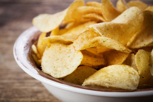 Olive oil potato chips