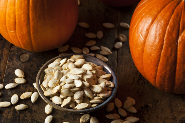 Pumpkin seeds or pepitas have many health benefits.