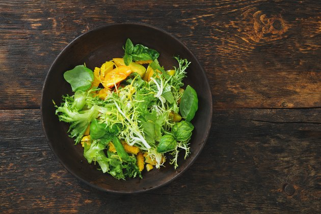 Summer salad with tomato and corn