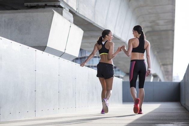 Women wearing sports wear