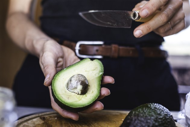 Salad Preparation: Slicing Avocado 1