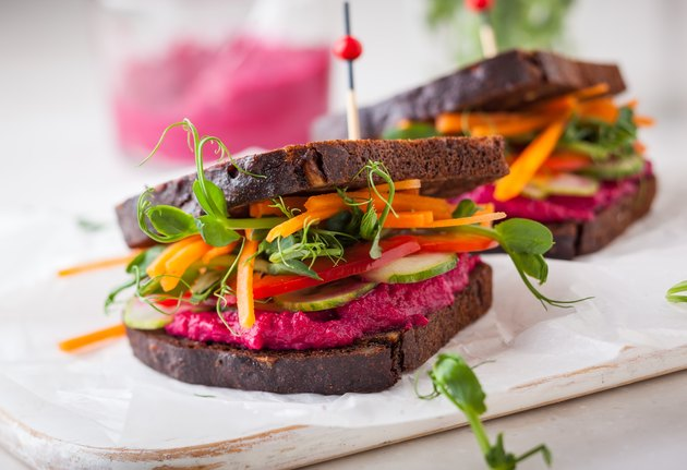 Plant-based vegetarian sandwich