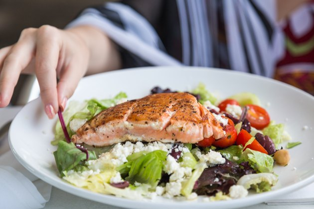 Grilled salmon salad for cancer diet and Protein Requirements for Cancer Patients
