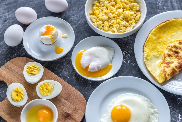 Different ways of cooking eggs
