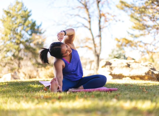 woman doing outdoor workout
