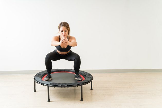 Gorgeous Female Exercising During High Intensity Interval Training