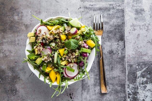 mango quinoa radish salad
