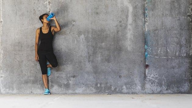 Female jogger resting