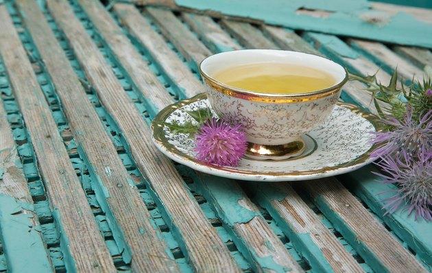 Milk thistle tea