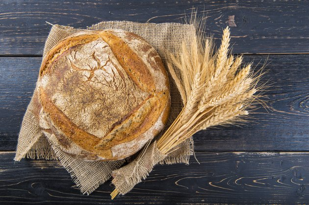 Homemade sourdough bread loaf