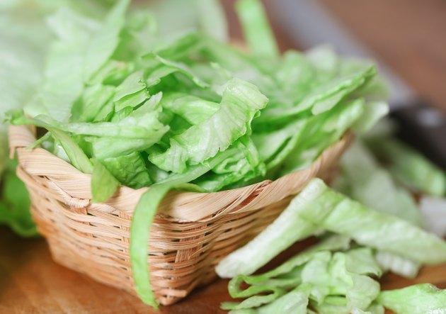 Fresh sliced Iceberg lettuce