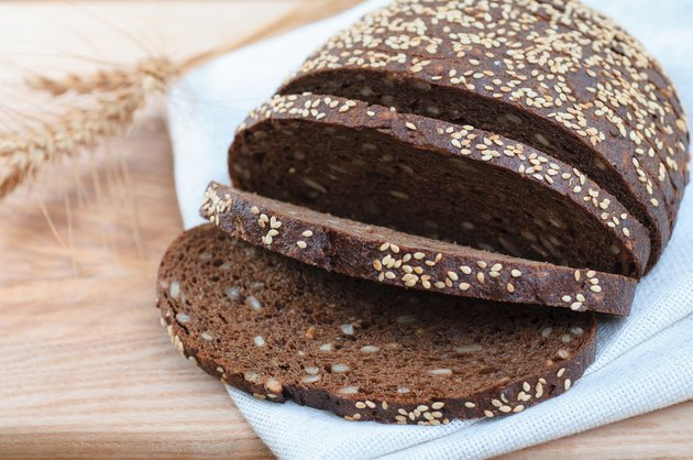 sliced fresh rye bread