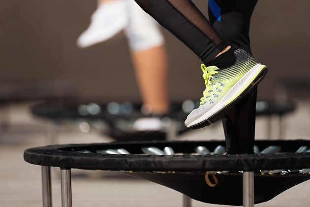 A trampoline work out is just as beneficial as running or biking.
