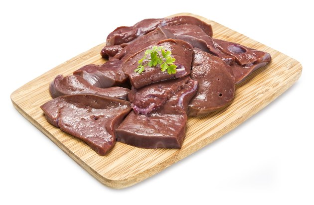 Raw cow liver