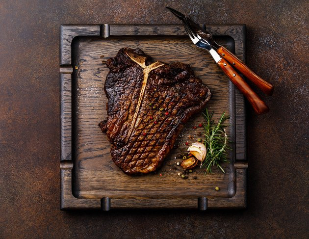 Grilled meat Hand selected Prime Dry Aging Steak T-bone