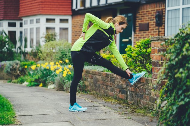 Woman with backache after jogging