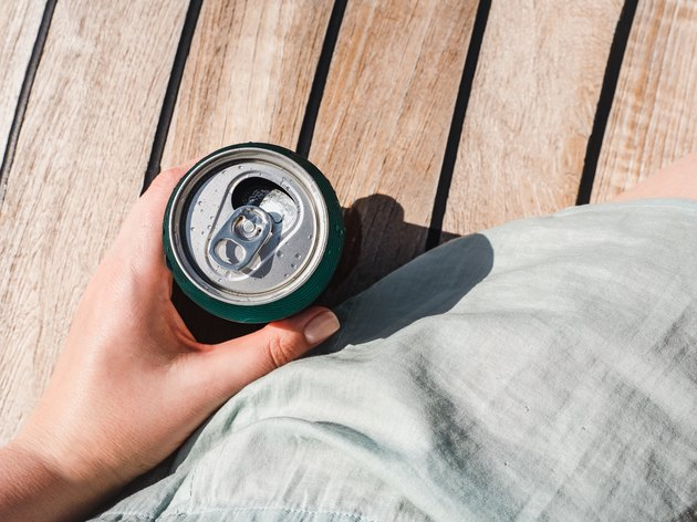Can of soda on a beautiful background