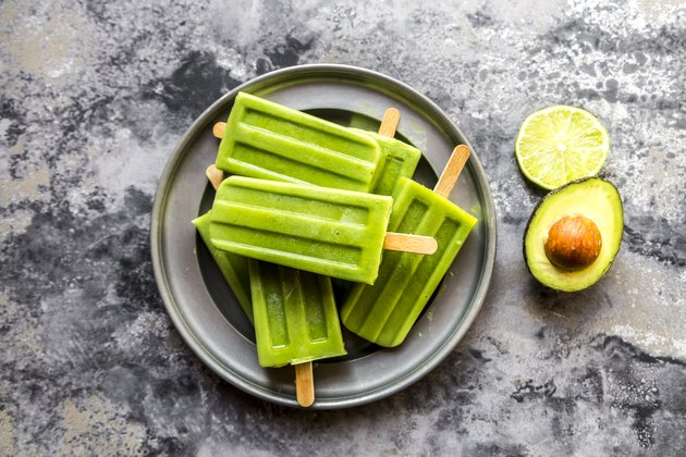 Avocado and Lime Popsicles