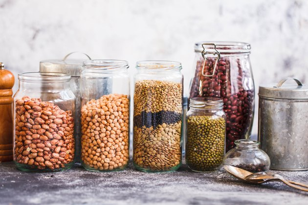 Jars of dried beans