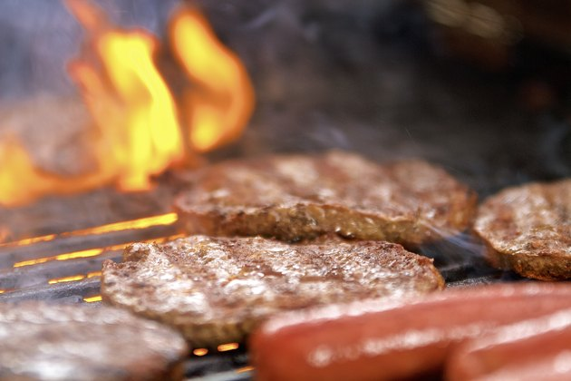 Grilling frozen burgers and hot dogs