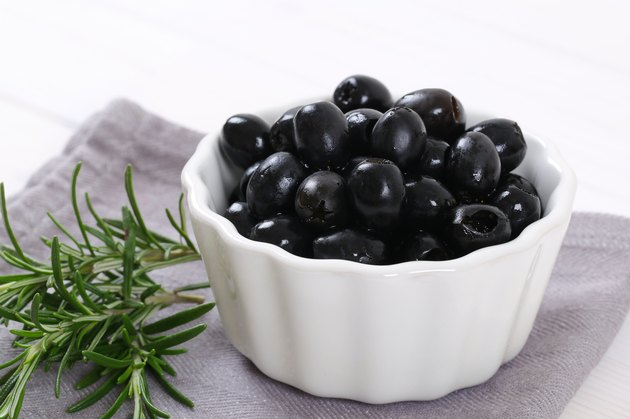 black olives with rosemary