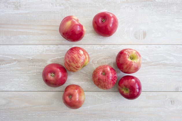 Fresh red apple juice